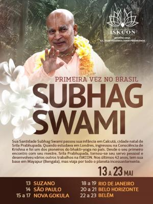 Subhag Swami - Frist Time in Brasil